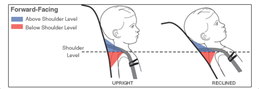 Forward-Facing adjusting the harness to fit your child