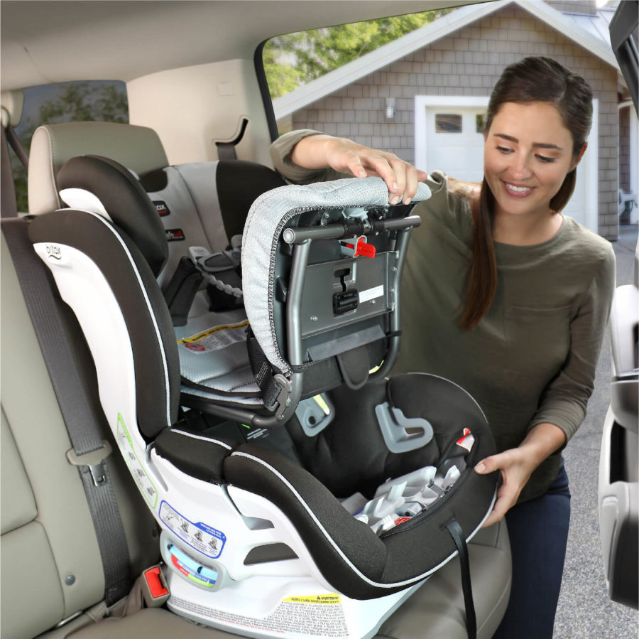 Step 1 of installing ClickTight with Forward-Facing Car Seat
