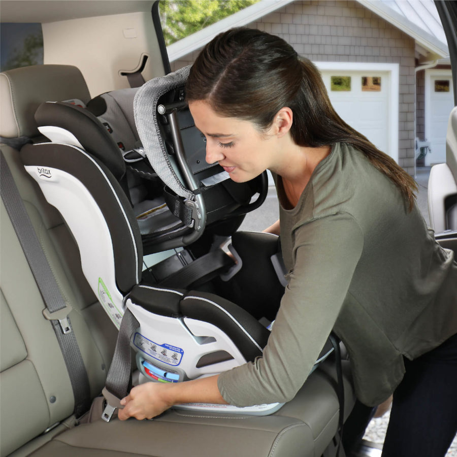 Step 2 of installing ClickTight with Forward-Facing Car Seat