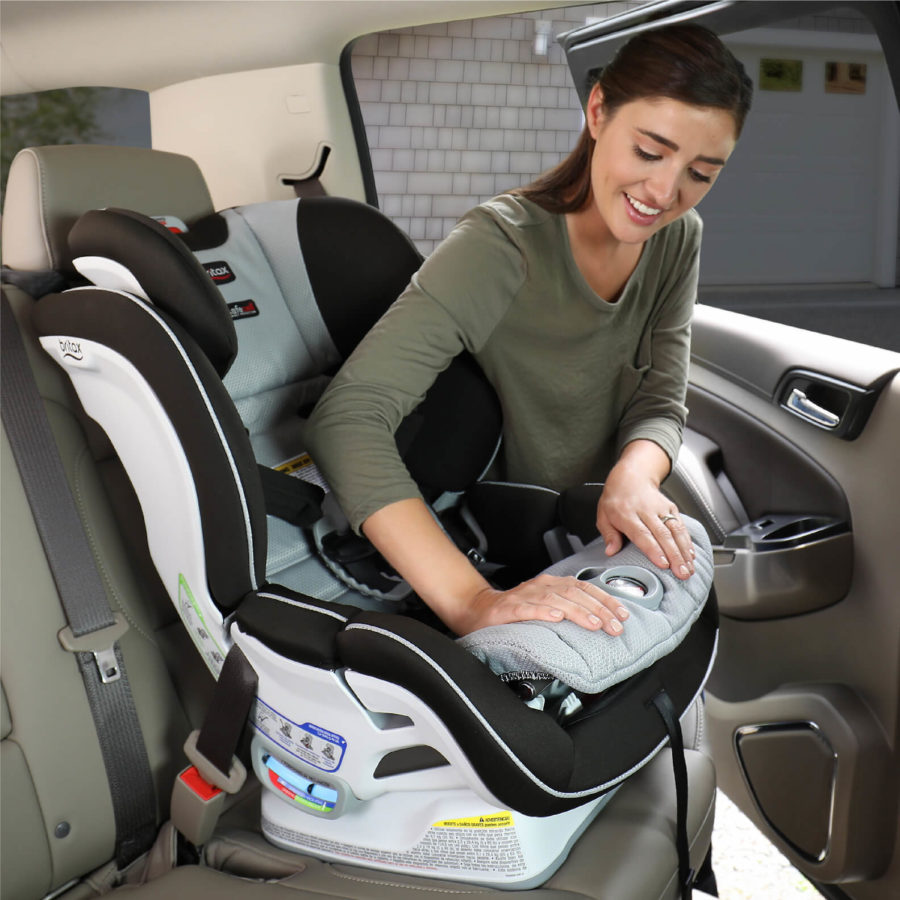 Step 3 of installing ClickTight with Forward-Facing Car Seat