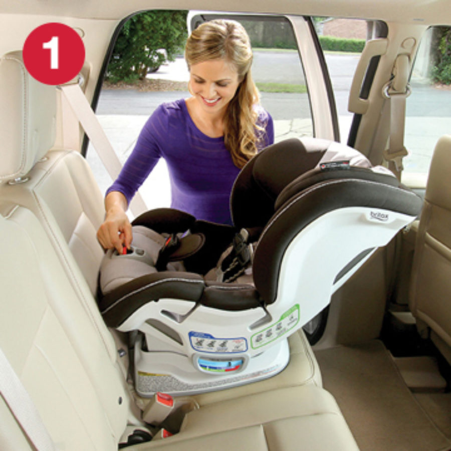 Step 1 of installing ClickTight with Rear-Facing Car Seat