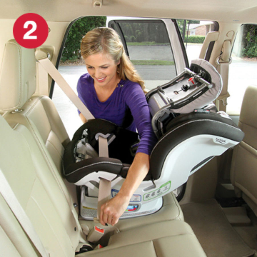 Step 2 of installing ClickTight with Rear-Facing Car Seat