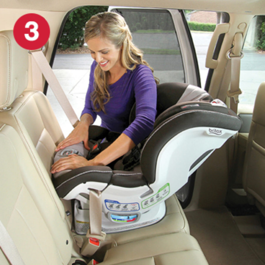 Step 3 of installing ClickTight with Rear-Facing Car Seat