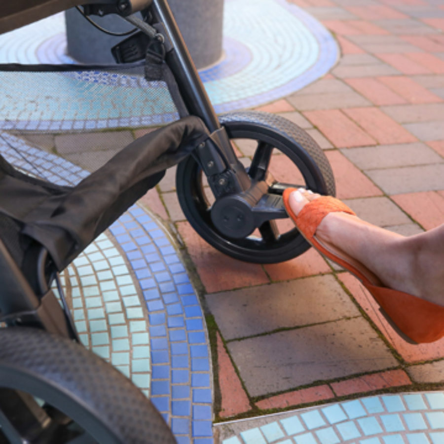 Using the Break on a B-Clever Stroller