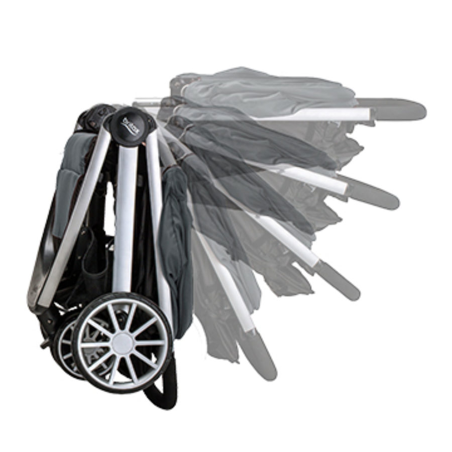 Folding the B Lively Stroller