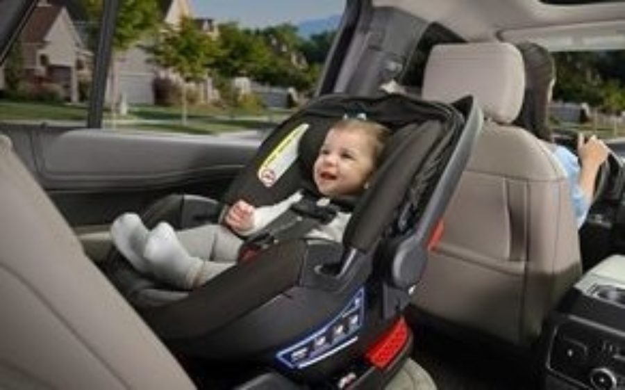 Baby in infant car seat